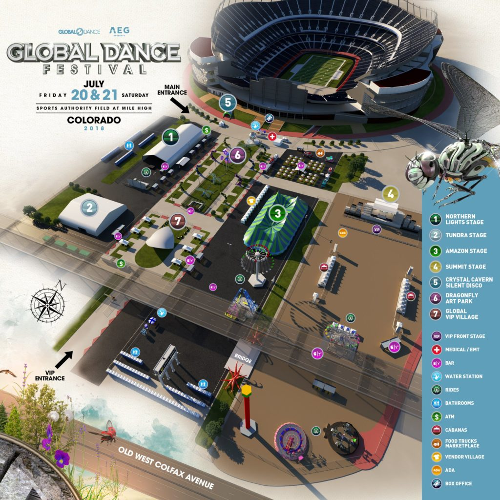 global dance festival map